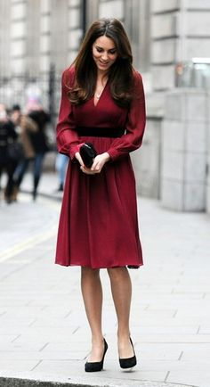 Catherine Duchess of Cambridge, aka Kate Middleton, wearing the 'Sofie Rae' dress from Whistles,