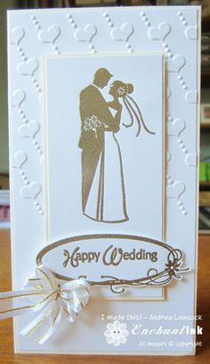 Handmade Wedding Card ... Inkadinkado - Wedding / Marriage ... EnchantINK