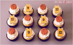 basketball cupcakes