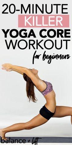 Beginner Core Workout Yoga Sequence | Balance + Lift