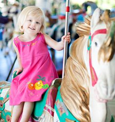 NiGi's hand-painted kids' clothing: Carousel Collection