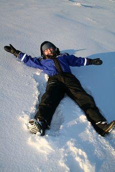 Making snow angels in Oulu!