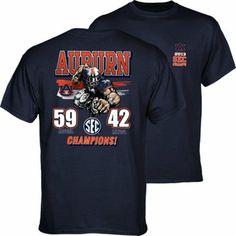 6178a7776c1 Auburn Tigers 2013 SEC Football Champions Youth Player T-Shirt - Navy Blue