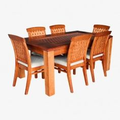 Juego Comedor New Antillanca (Raulí) Glass Dining Room Table, Outdoor Furniture Sets, Outdoor Decor, Home Decor, Dining Table Design, Wooden Chairs, Furniture, Timber Frames, Glass Dining Table
