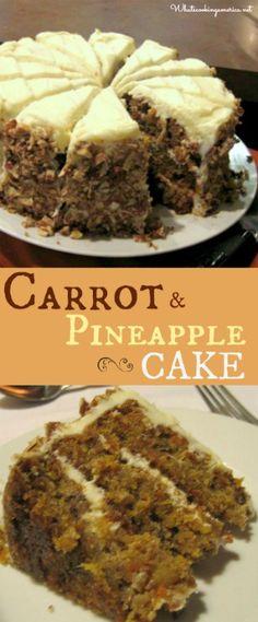 Carrot and Pineapple Cake Recipe  |  whatscookingamerica.net  |  #carrot #pineapple #cake