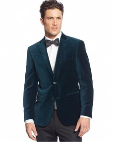 Alfani RED Velvet Slim-Fit Sport Coat - Blazers & Sport Coats - Men - Macy's