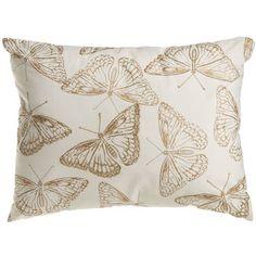 Wilko Butterfly Cushion Gold 30x40cm
