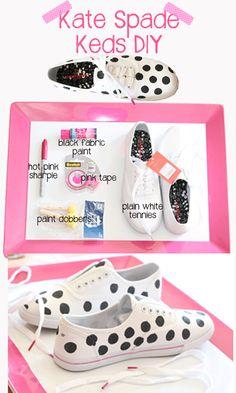 Kate Spade Polka Dot #Keds #DIY #KateSpade