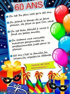 Plein De Mots Doux Pour Les 60 Ans Citations 60th Birthday Gifts