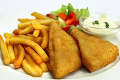 Smažený sýr, which is a deep-fried breaded Edam cheese (the most liked cheese in all of the Czech Republic) served alongside french fries or boiled potatoes and tartar sauce