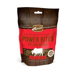 Merrick Power Bites Real Texas Beef Recipe Treats 6oz ** For more information, visit image link.