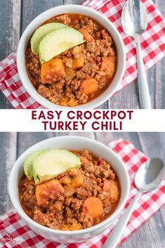 This delicious crockpot turkey sweet potato chili is easy to make and healthy with ground turkey, no beans, vegetables, and perfectly combined spices that make this a favorite easy family meal! Healthy Eating Recipes, Healthy Foods To Eat, Healthy Cooking, Healthy Eats, Easy Family Meals, One Pot Meals, Easy Meals, Turkey Sweet Potato Chili, Clean Eating Recipes For Dinner