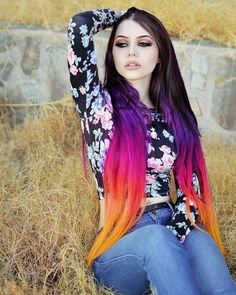 "I know she'a ""Goth"" model but I'm way too old for the Goth thing, however I love her hair! That's just incredible!"