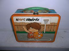 1970's Sport Skwirts Metal Lunch Box - Basketball and Tennis Vintage  Lunchbox!