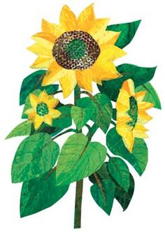 Eric Carle: create painted paper & collage. could use this method to recreate other famous works.