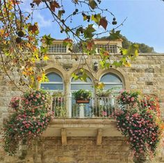 A romantic balcony in Broumana, north of Beirut