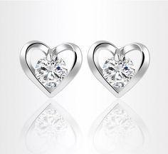 2016 Fashion Women Zircon Crystal Stud Earrings Jewelry Heart  Star Fox Swan Shaped Earrings design Zircon Earrings Fashion