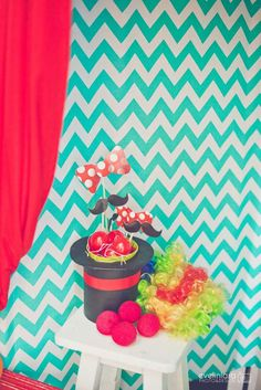 Photo props at a circus birthday party! See more party planning ideas at CatchMyParty.com!