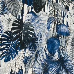 "Christian Lacroix for Designers Guild ""Jardin Exo'chic"" in Mediterranee Motif Tropical, Tropical Art, Tropical Plants, Illustration Inspiration, Illustration Art, Illustrations, Textile Prints, Textile Design, Fabric Design"