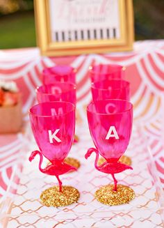 Flamingo Fiesta Girls Night In {Part 1: Dinner & Drinks} + Free Printables