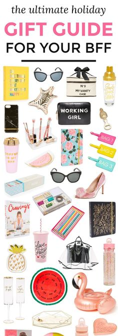 The ultimate holiday gift guide for your BFF or any woman on your shopping list!   37 fun gift ideas for your BFF!   Gift ideas for friends   Christmas gift guide   Gift ideas for women   Ashley Brooke Nicholas   Christmas gift ideas for women   best gift ideas