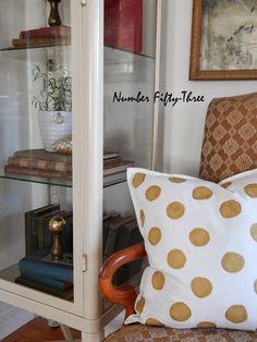 DIY Gold Polka dot pillow..... - Jennifer Rizzo