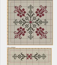 This Pin was discovered by Fer Tapestry Crochet Patterns, Knitting Patterns Free, Hand Embroidery Videos, Embroidery Stitches, Cross Stitch Designs, Cross Stitch Patterns, Beaded Cross Stitch, Hexagon Quilt, Bargello