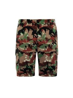 $850, Olive Camouflage Shorts: Valentino Camouflage Print Cargo Shorts. Sold by MATCHESFASHION.COM. Click for more info: http://lookastic.com/men/shop_items/206085/redirect