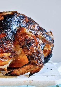 Brown Sugar Butter Roasted Chicken Recipe   howsweeteats.com