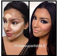 Contour makeup.. Yikes. Looks hard to do