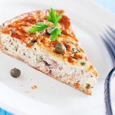 Tarte salée au thon et fromage