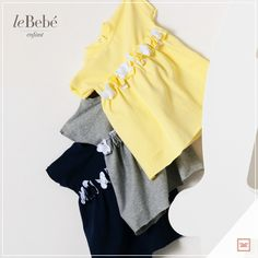 Vestitini in vari colori, con applicazione di roselline di tessuto al giro vita. Pratici e freschi, adatti per le prime giornate di sole. :) http://www.lebebe.eu/it/categorie/moda_bimba/lebebe_enfant #fieradiesseremamma #lebebé #enfant #dress #baby #spring #fashion