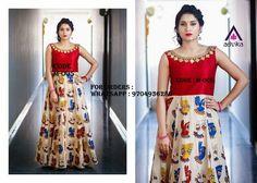 Kalamkari Designs, Salwar Designs, Blouse Designs, Simple Kurta Designs, Salwar Pattern, Kalamkari Dresses, Frock Patterns, Anarkali Dress, Indian Designer Wear