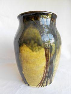 Laura Wowk Pottery underglaze and translucent glaze over wheel thrown vase