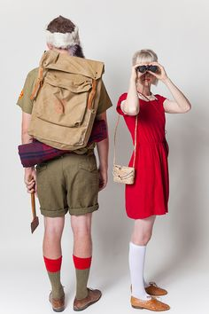 Halloween Couples Costumes: Moonrise Kingdom - Say Yes Scary Halloween Costumes, Halloween Goodies, Couple Halloween, Halloween 2020, Halloween Ideas, Halloween Party, Moonrise Kingdom, Peter Pan Collar Dress, Couple Costumes