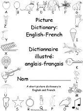 Fill in the blank French vocabulary sheets