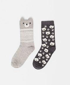 Bear Socks #oysho #socks
