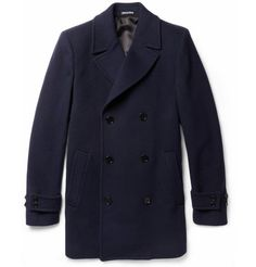 Paul Smith London Wool and Cashmere-Blend Peacoat - $1355