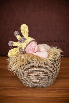 Crochet Baby Giraffe Beanie Custom Made To by StephaniesPropShop, $18.00