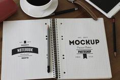 Free Sketchbook PSD MockUp Template (30.1 MB) | PsdSuckers | #free #photoshop #mockup #psd #sketchbook #notebook