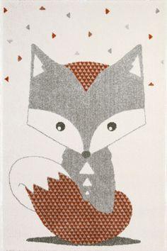 Tapis enfant renard 100 x 150 cm Art for Kids Design Shop, Fox Kids, Textured Carpet, Greeting Card Shops, Bunny And Bear, Gold Rug, Black Rug, Woodland Nursery Decor, Child Room