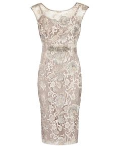 Anthea Crawford l Chantilly Embroidered Sequin Lace Dress