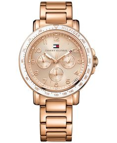 Tommy Hilfiger Women's Rose Gold-Tone Stainless Steel Bracelet Watch 40mm 1781513