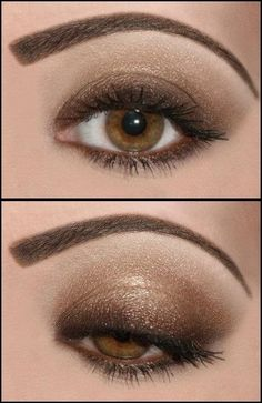 """Create this Chocolate eye, the Mary Kay's """"Expresso"""" right above the lashes and Mary Kay's """" Chocolate Kiss"""" on the top and along the crease. Carrieblythe.com"""