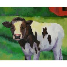 Indeed Decor's Cow Art Print on Canvas will take center stage in any room in your home.