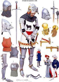 Graham Turner - Armadura completa de Caballero C 1390