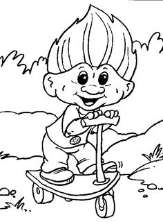 troll_coloring_pages_004 - Coloring Pages ABC Kids Fun Page