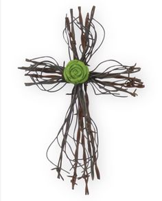 barbed wire cross!