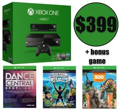 HUGE Deal on Xbox One: Xbox One 500GB Console with Kinect + FOUR Games $399 Shipped *HOT* - http://www.swaggrabber.com/?p=281334