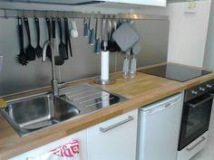 Kitchen oven utensils fridge moustache house rome apartment